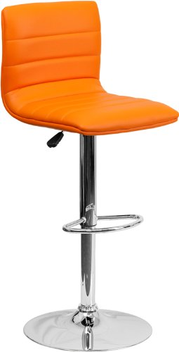 Wonderful Flash Furniture Contemporary Vinyl Adjustable Height Bar Stool With Chrome  Base, 44 Inches,