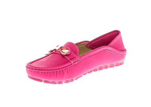 Mocassins Loafers on KIKI CALICO Fucshia Comfort Slip Flats Shoes Women's FSaInqZ