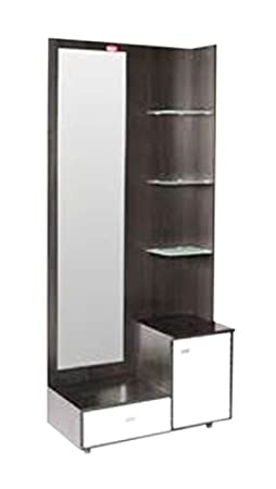Royalwood Modular Furniture Dressing Table With Mirror Brown And White Color