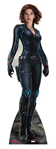 Star Cutouts Official Marvel Avengers Movie Lifesize Cardboard Cut Out of Black Widow / Natasha Romanoff (Scarlett Johansson) 177cm Tall 54cm -