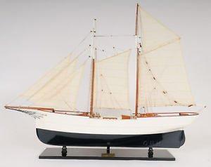 Schooner Wander Bird Yacht Wood Ship Model 38