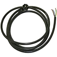 Interpower 86410020 North American Angled NEMA 5-15 Power Cord, Angled 5.15P Plug Type, Black Plug Color, Black Cable Color, 15A Amperage, 125VAC Voltage, 2.44m Length