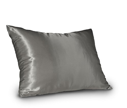 Shop Bedding Sweet Dreams - Blissford Luxury Satin Pillowcase with Zipper, Standard Size, Silver (Silky Satin Pillow Case for Hair) By (Silver Zebra Cover)