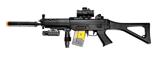 Double Eagle m82p Full & semi Automatic Airsoft Assault Rifle Laser sig 552(Airsoft Gun) (Best Modern Assault Rifle)