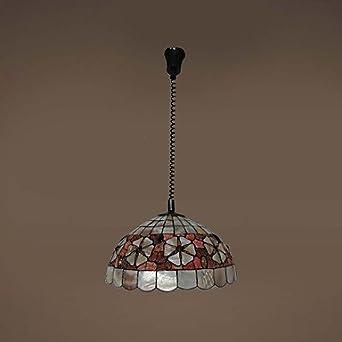 dee 120 W luz lámpara de techo Tiffany Lysander para ...