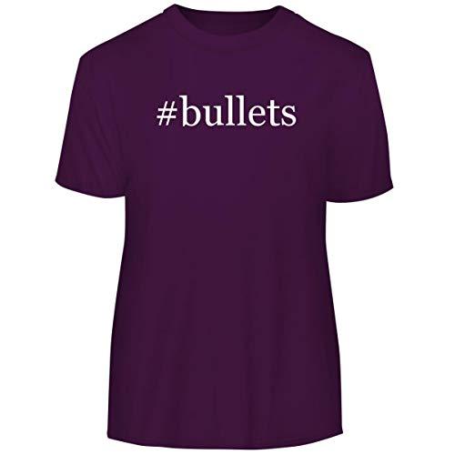 #Bullets - Hashtag Men's Funny Soft Adult Tee T-Shirt, Purple, Large