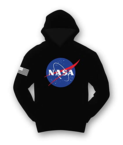 Riot Society NASA Meatball Logo Mens Hoodie - Black, Medium