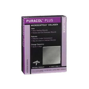 60MSC8722EP - Puracol Plus AG Collagen Dressing 2 x 2