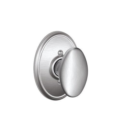 Siena Knob with Wakefield Trim Non-Turning Lock, Satin Chrome (F170 SIE 626 WKF) ()