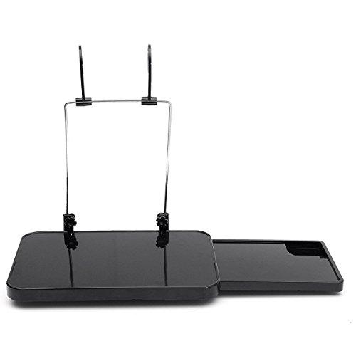 XINDELL Multifunctional Car Dinning Desk Adjustable Auto Vehicle Laptop Tablet Notebook Eating Food Work Steering Wheel and Car Seat Mount Stand Desk Holder Tray Table Holder Back Seats (Black)