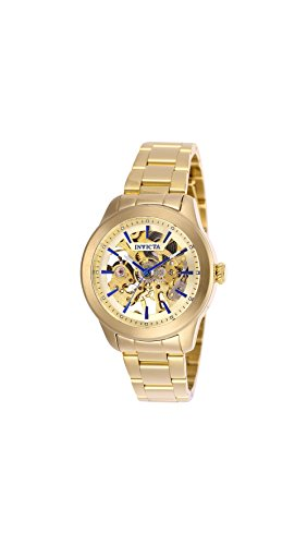 Invicta Vintage Lady Automatic Gold Skeleton Dial Ladies Watch 25751 (Womens Skeleton Automatic Watch)