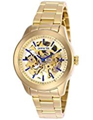 Invicta Vintage Lady Automatic Gold Skeleton Dial Ladies Watch 25751