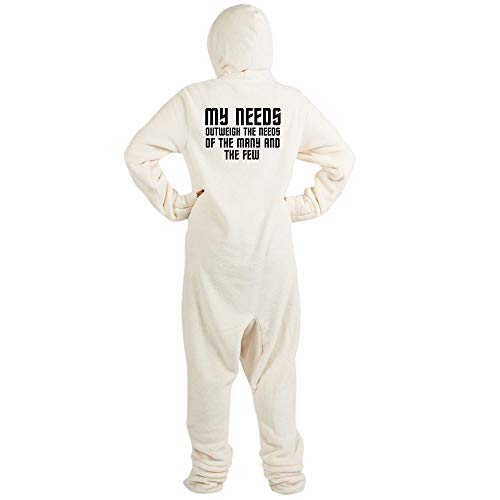 CafePress Star Trek Spock Novelty Footed Pajamas, Funny Adult One-Piece PJ Sleepwear Creme -