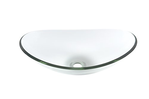 Topia TS-162C Oval Clear Glass Vessel Sink,