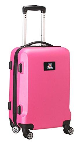 Denco NCAA Arizona Wildcats Carry-On Hardcase Luggage Spinner, Pink