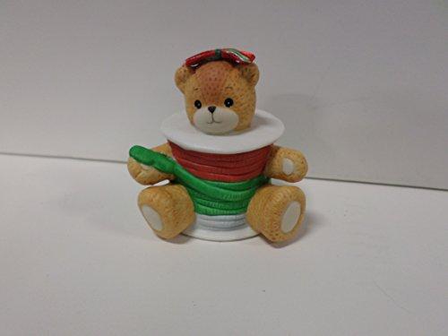 Bear Teddy Enesco - Lucy & Me Series (Enesco) **Teddy Bear Dressed as Spool of Ribbon Figurine ** 206539