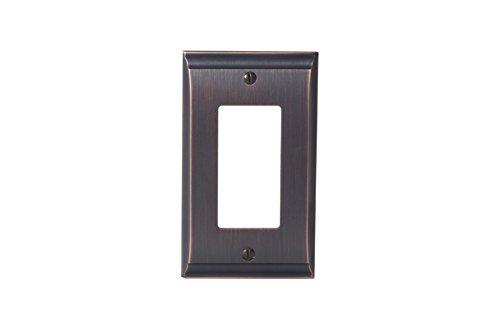 Rocker Switchplate Cover - Amerock BP36504ORB Candler 1 Rocker Wall Plate - Oil-Rubbed Bronze