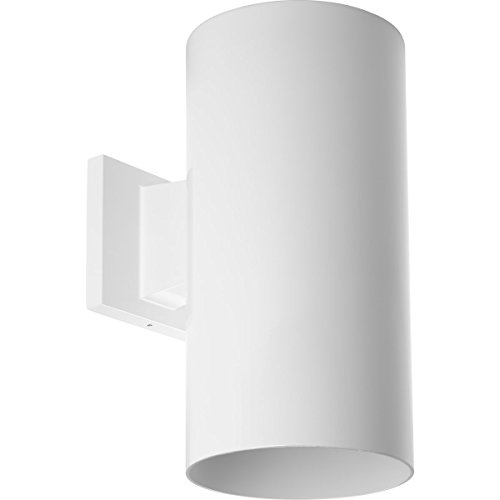 Progress Lighting P5641-30 6-Inch Cylinder with Heavy Duty Aluminum Construction and Die Cast Wall Bracket Powder Coated Finish UL Listed for Wet Locations, -