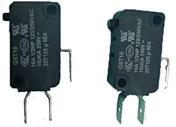 (2pcs) W10727360 for Whirlpool Microwave Door Switch 28QBP0495 W10727360 FC61 SZM-V16-FC-61