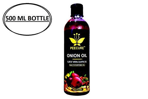 PEECURE Onion Hair Growth Oil 500 ML With Essential Hair Treatment Oil with Rose oil,Argan, Bhringraj, Hibiscus,Amla, Olive,Coconut Oils