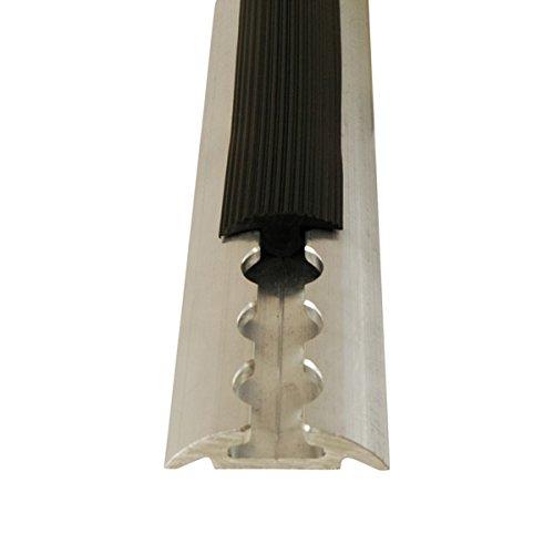 Abdeckprofil fü r Airlineschienen, 1 Meter, aus weichem und flexiblem Kunststoff, platzsparend verstaubar, schwarz STARK GmbH