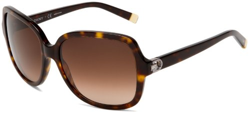 DKNY Women's 0DY4078B Sunglasses,Dark Tortoise Frame/Brown Gradient Lens,58 - Sunglasses Dkny