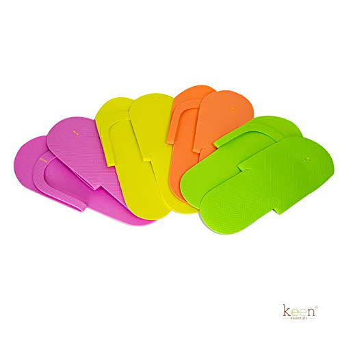 360 Pairs (1 case) Disposable Pedicure Slippers Foam Flip Flops SEWING Style for Nail Salon, Home Use ASSORTED COLORS ()