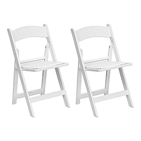 Incredible White Resin Stackable Folding Chairs Heavy Duty 300 Pound Capacity For Banquets Weddings And Events 2 Pack Squirreltailoven Fun Painted Chair Ideas Images Squirreltailovenorg
