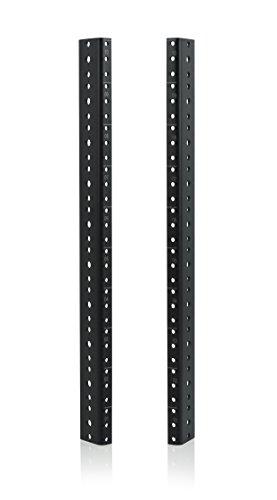 Gator Rackworks Heavy Duty Steel Rack Rail Set; 10U Rack Size (GRW-RACKRAIL-10U) by Gator