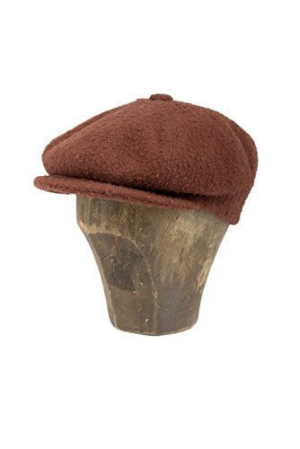 Hat, Cap, Coppola, Flat Cap, Berets, Gatsby, Newsboy, Unisex, Men, Women, Boy, Girl, Wool, Brown, Rust, Large, Tuscan Fabric, Italian Style, Made in Italy, Florence, Handmade (Wear Cap Newsboy)