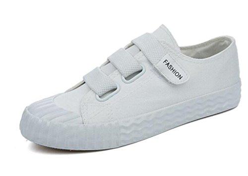 Amoi Ocio XIE Zapatos Movimiento Baja 38 Cómodo Diario Lona WHITE de 36 Zapatos Cuatro Plano Colores Ayuda Estudiantes Bottom Señora 4ErExP