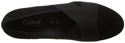 Gabor Dames Comfortabele Sportschoenen Gesloten Slip Op Zwart (zwarte 47)