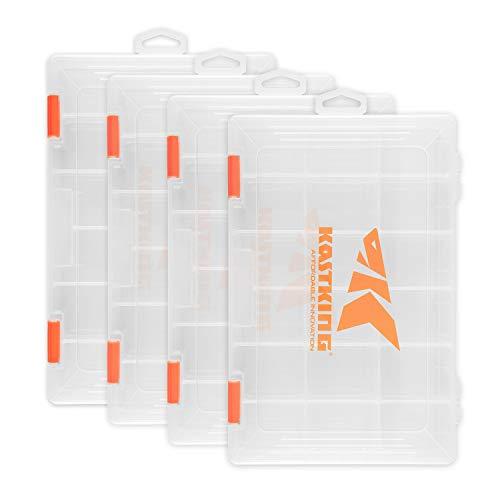 "KastKing Fishing Tackle Bags - Large Waterproof Tackle Bags - Tackle Box - Fishing Gear Bags - Fishing Tackle Storage Bag (Trays: Four 3600 (10.8""x7.25""x1.65""))"