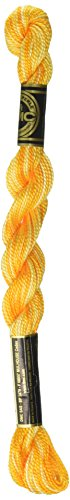 (DMC 115 5-90 Pearl Cotton Thread, Variegated Yellow, Size 5)