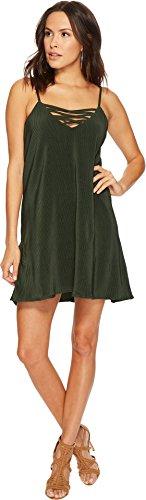 Jack by BB Dakota Women's Radley Pleated Crisscross Front Dress Mountain Green Small