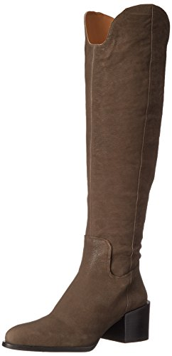 Nine West Womens Enrica Leather Over-The-Knee Boot Dark Grey