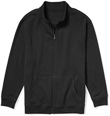 Essentials Herren Full-Zip Fleece Mock Neck Sweatshirt