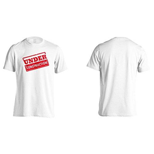 Neu Im Bau Stempel Herren T-Shirt m263m