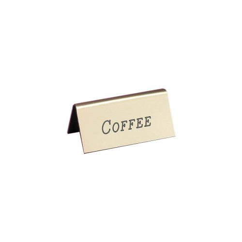 Cal-Mil 228-1-011 Beverage Tents (Coffee), 1'' Length x 2'' Width x 1.5'' Height, Gold (Pack of 12) by Cal Mil