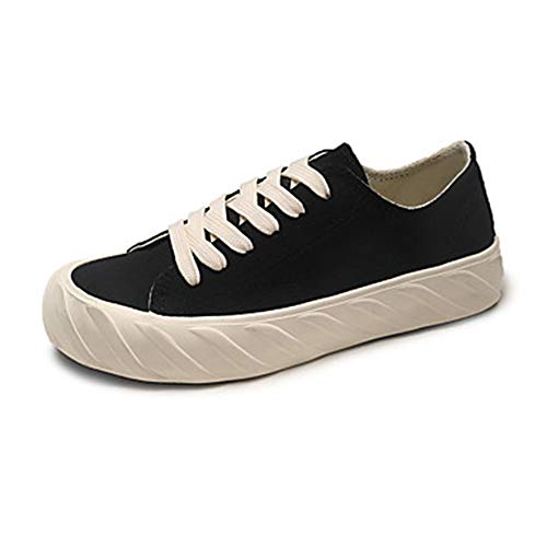 TTSHOES Rosa 5 Primavera Piatto Per Black EU37 Viola CN37 Sneakers US7 Scarpe Footing Estate UK5 Di Donna Tonda Comoda Punta Corda Blu RRvnZx