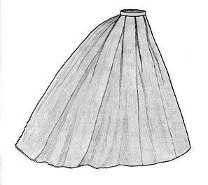 1865 Elliptical Skirt Pattern -