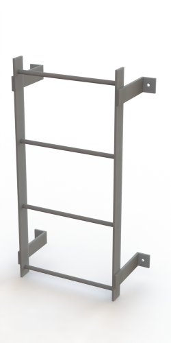 Steel Fixed Ladder - Tri-Arc WLFS0104 4-Rung Standard Uncaged Fixed Steel Ladder
