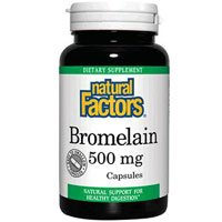 Bromelain, 500 mg, 180 Caps by Natural Factors (Pack of 4) by Natural Factors