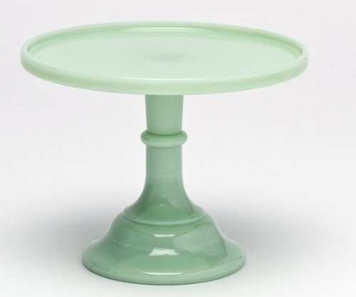 9-jade-green-milk-glass-cake-stand-plate-bakers-quality
