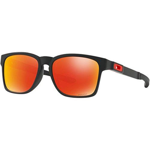 Oakley Men's Catalyst Non-Polarized Iridium Rectangular Sunglasses, Matte Black, 56.0 - Oversized Oakley Sunglasses
