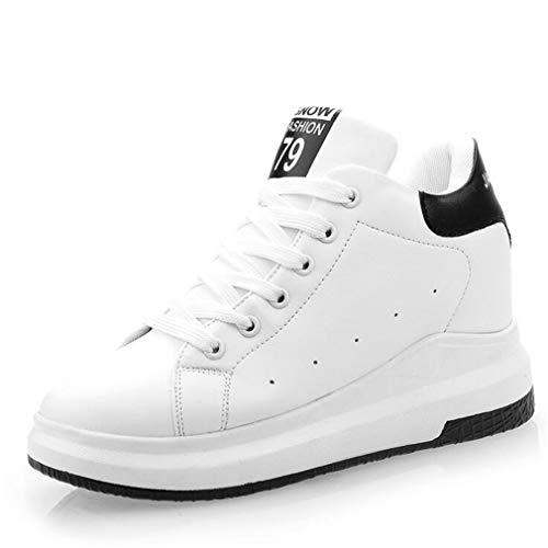 Dicken Höhe Herbst Lace Womens Turnschuhe Farbe up Schuhe Freizeitschuhe weiße Ein Schuhe Kleine Boden B 36 Neue Damen erhöhen Größe zxxPqt1w