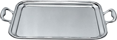 Alessi Rectangular Tray - Alessi 340/40 Rectangular Tray With Handles, Silver