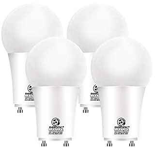 GU24 LED Light Bulb, 60 Watt Equivalent (8.5W), 3000K Warm White, 800 Lumens, Non-Dimmable, 2 Prong Light Bulb, UL Listed, 4 Pack