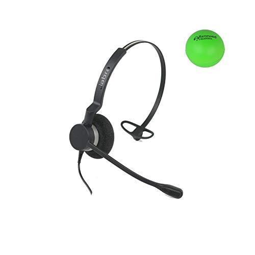 Jabra Biz 2300 Single Speaker Wired Headset Bundle with Renewed Headsets Stress Ball (Renewed) ()