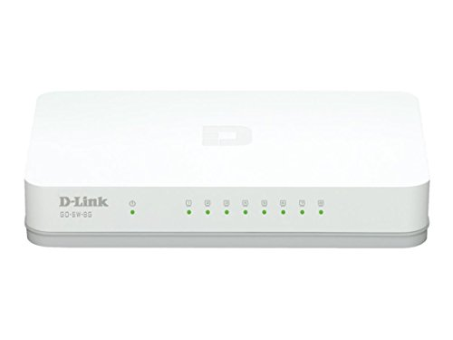 D-link 8-Port Unmanaged Gigabit Switch (GO-SW-8G) - Network Scanner Expansion Kit